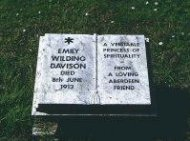 Memorial on Davison grave in Morpeth Churchyard