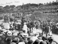 Emily Davison Funeral leaving Morpeth Station