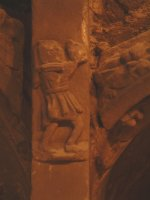 Carved stone figure on Sedilia