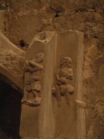 Carved stone figures on Sedilia